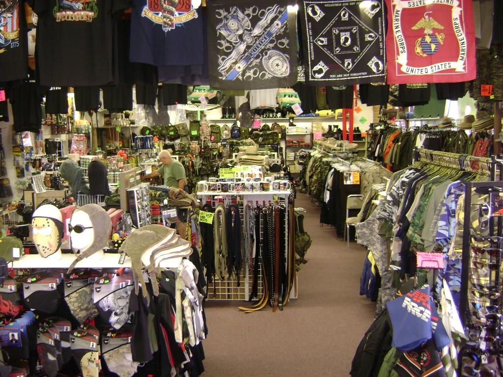 magasin d'équipement militaire